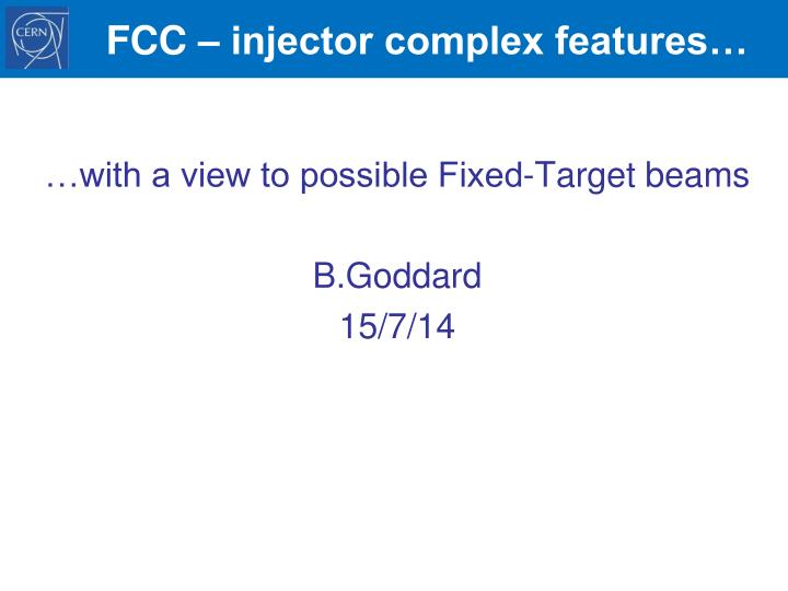 Fcc injector complex features