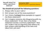 how will i know if i ve written a good thesis statement1