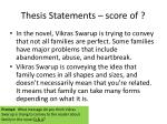 thesis statements score of