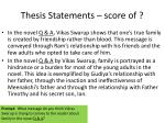 thesis statements score of2