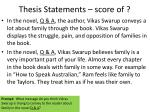 thesis statements score of6