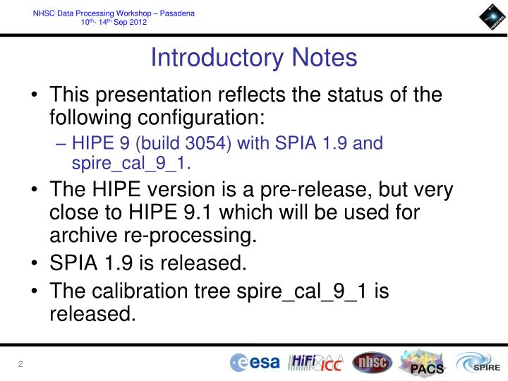 Introductory notes