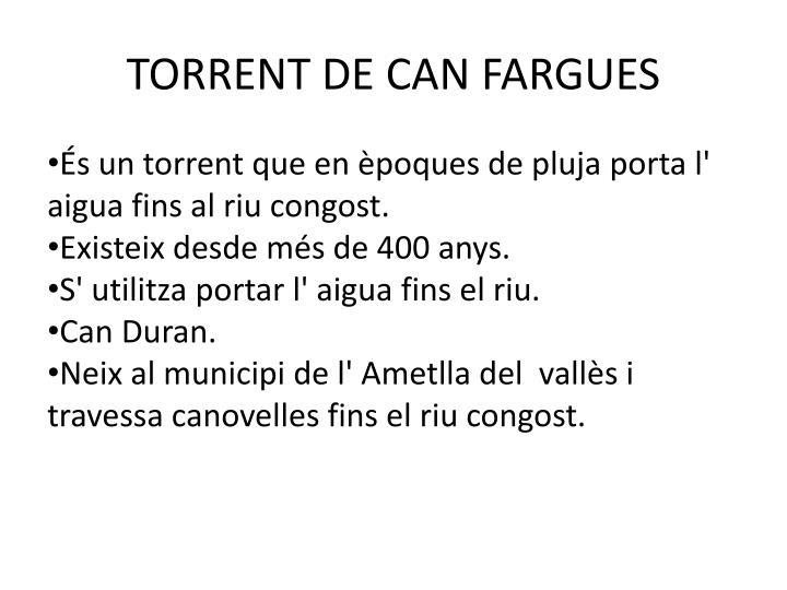 TORRENT DE CAN FARGUES