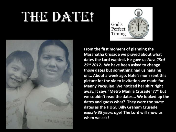 The date!
