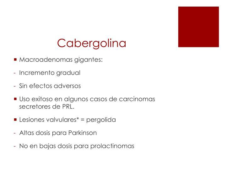 Cabergolina