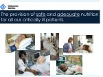 the provision of safe and adequate nutrition for all our critically ill patients