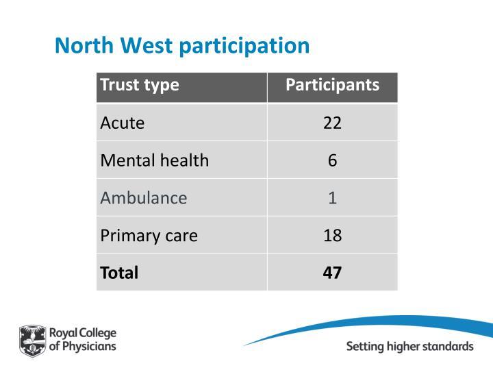 North West participation