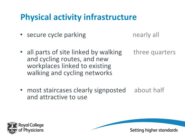 Physical activity infrastructure