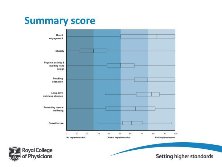 Summary score