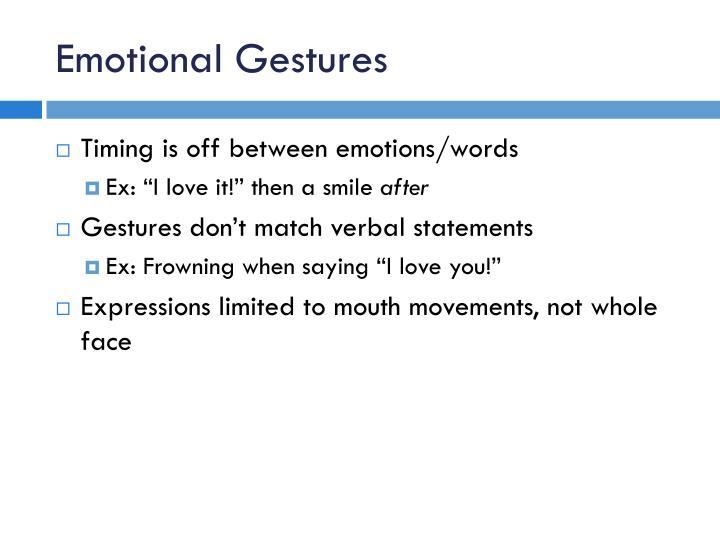 Emotional Gestures