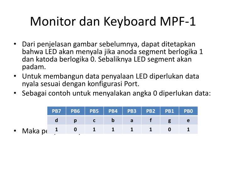 Monitor dan Keyboard