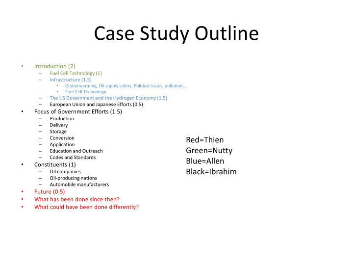 Case study outline