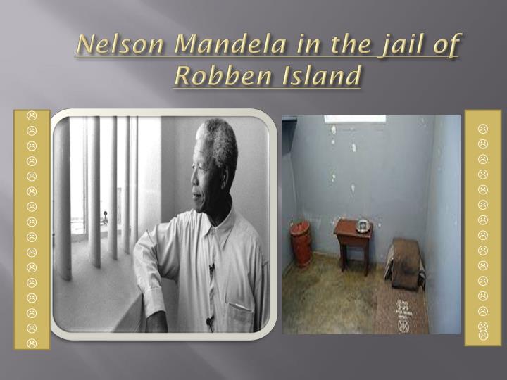 Nelson Mandela in the jail of