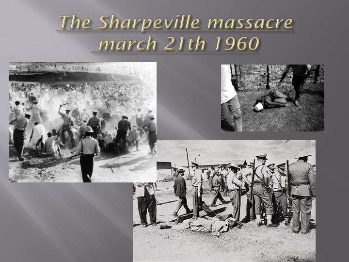 The Sharpeville massacre