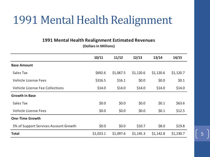 1991 Mental Health Realignment