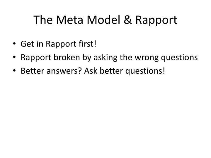 The meta model rapport