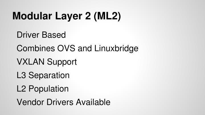 Modular layer 2 ml2