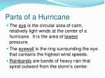 parts of a hurricane
