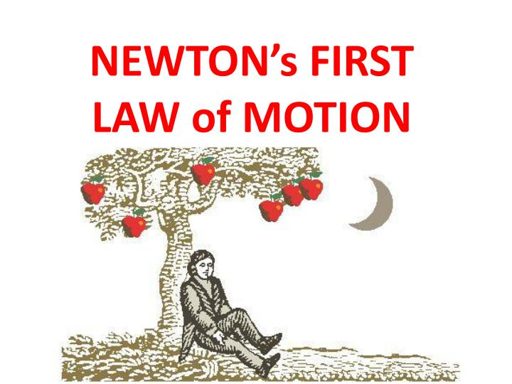 Newtons fist law of motion all can