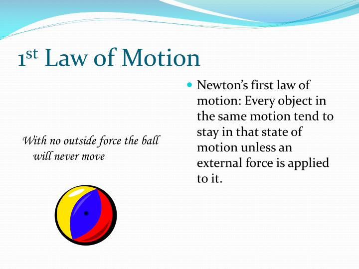 1 st law of motion