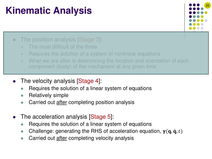 Kinematic Analysis