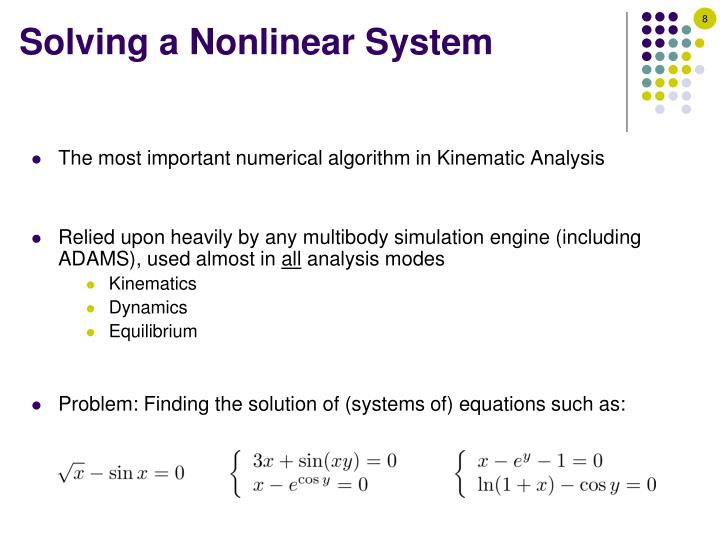 Solving a Nonlinear System