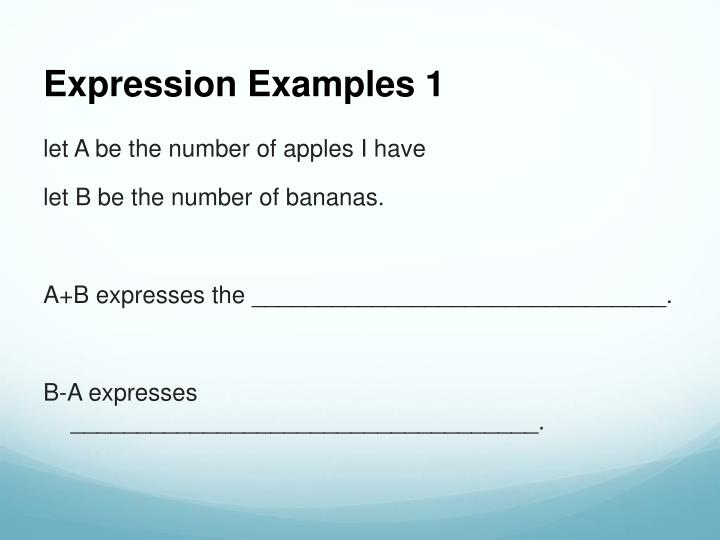 Expression Examples 1