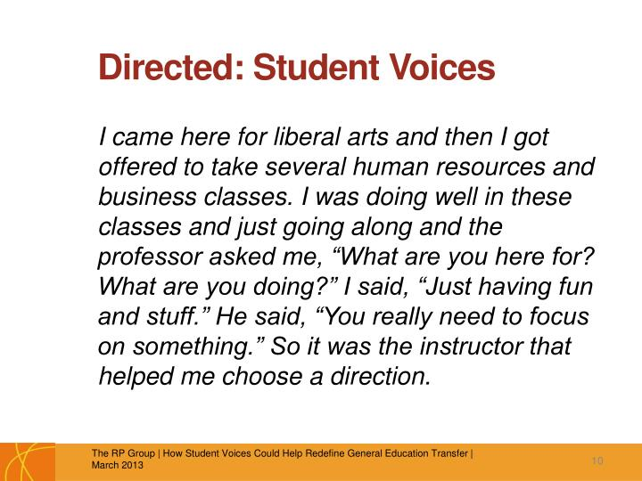 Directed: Student Voices