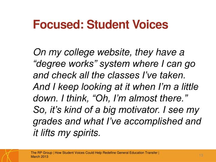 Focused: Student Voices