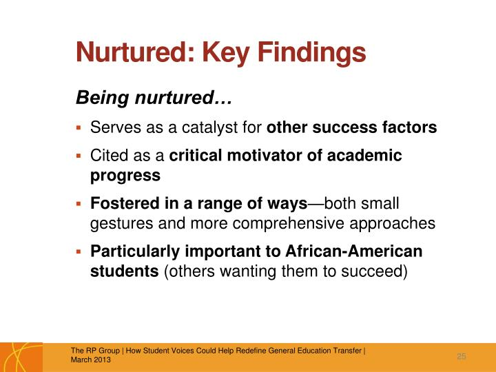 Nurtured: Key Findings