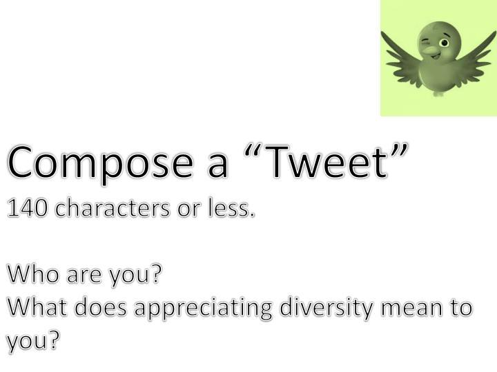"Compose a ""Tweet"""