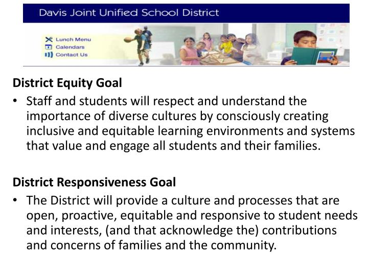 District Equity Goal