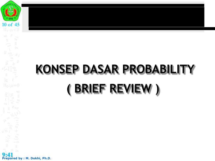 KONSEP DASAR PROBABILITY