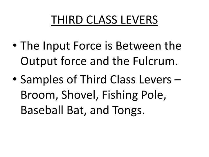THIRD CLASS LEVERS