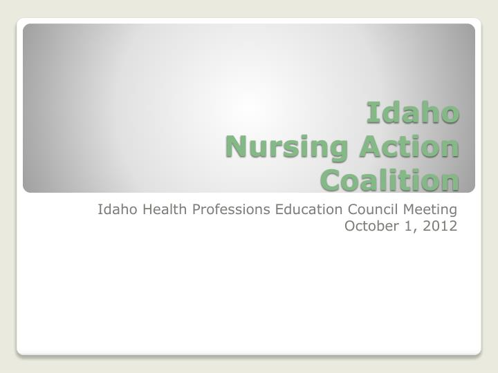 Idaho nursing action coalition