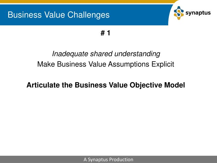 Business Value Challenges