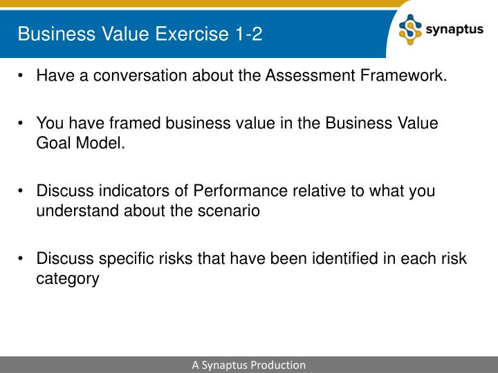 Business Value Exercise 1-2