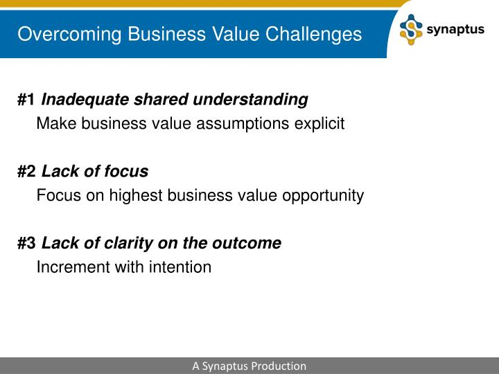 Overcoming Business Value Challenges