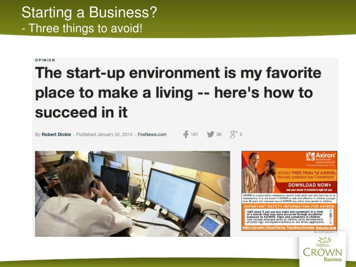 Starting a Business?