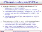 sfsu expected results by end of fy2016 run