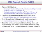 sfsu research plans for fy2016