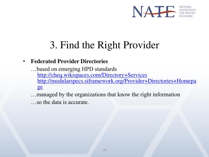 3. Find the Right Provider