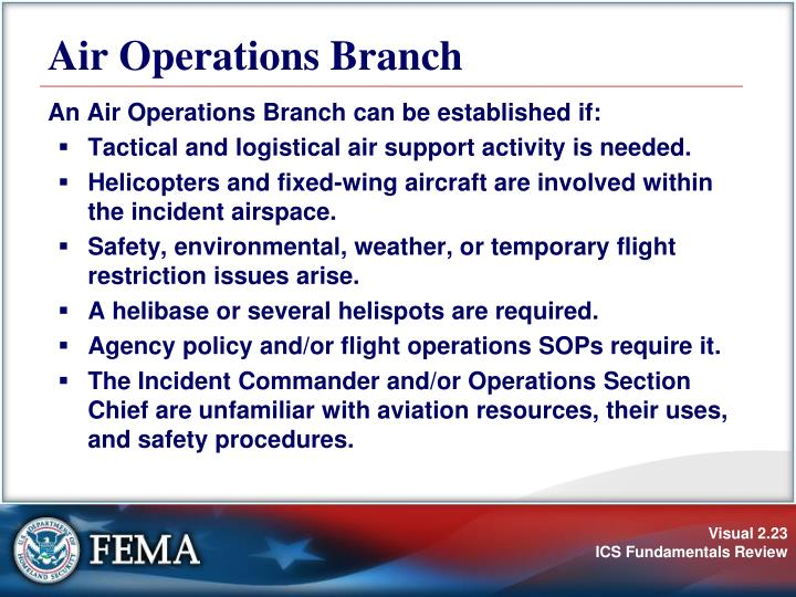 Air Operations Branch