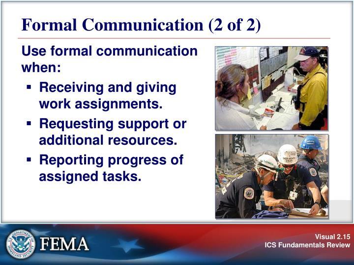 Formal Communication (2 of 2)