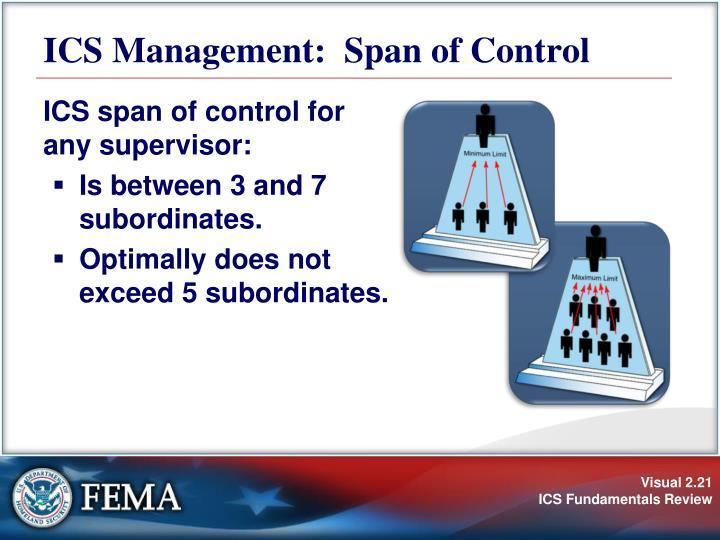 ICS Management:  Span of Control
