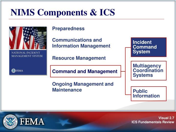 NIMS Components & ICS