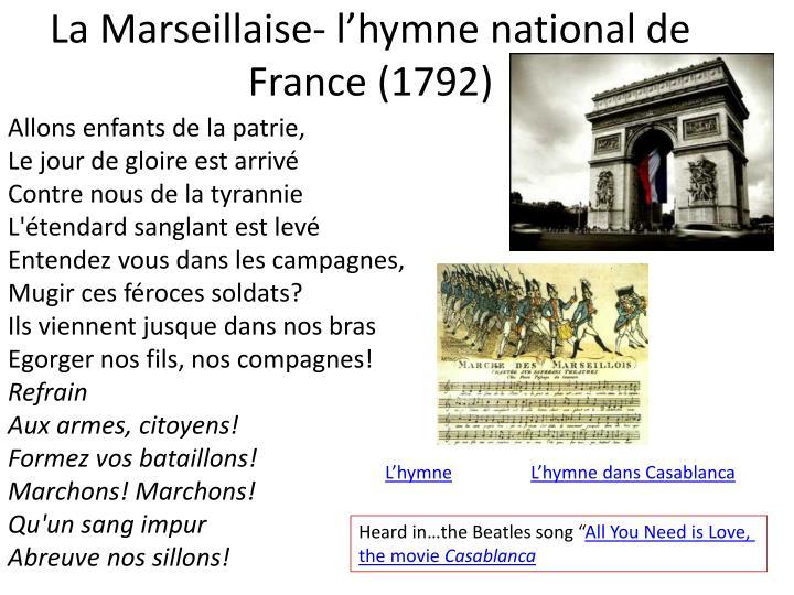 La Marseillaise-