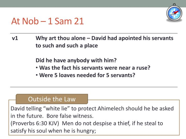 At Nob – 1 Sam 21