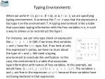 typing environments