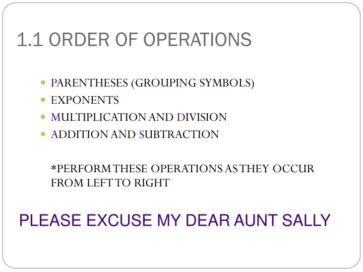 1 1 order of operations